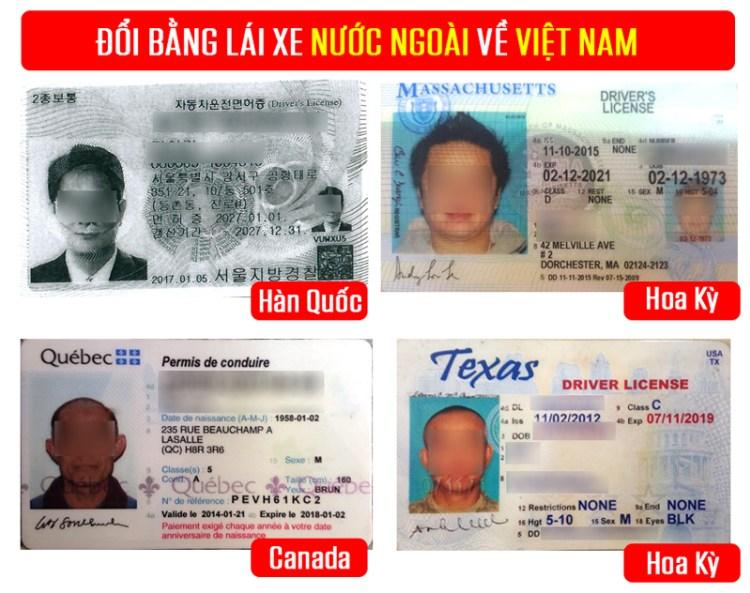 Thủ tục đổi bằng lái xe nước ngoài sang Việt Nam tại TPHCM