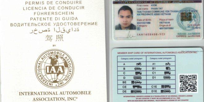 Hướng dẫn cấp đổi bằng lái xe quốc tế tại Gia Lai