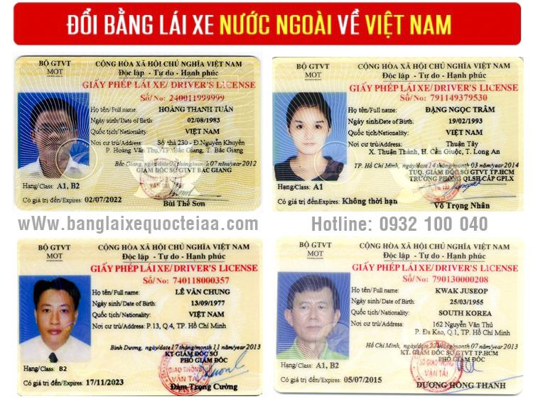 thủ tục cấp đổi bằng lái xe Mỹ sang Việt Nam online qua mạng - Điện thoại: 0932 100 040
