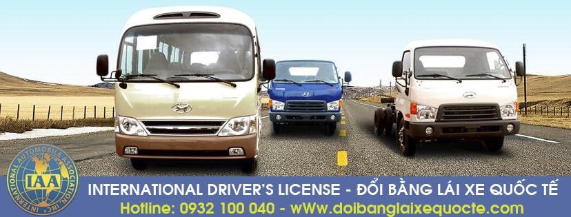 Hướng dẫn chuyển đổi giấy phép lái xe quốc tế tại Bến Tre qua mạng - Hotline/ Zalo/ Viber: 0932 100 040