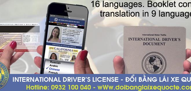 Nhận cấp đổi bằng lái xe quốc tế tại Phú Yên qua mạng - Hotline: 0932 100 040