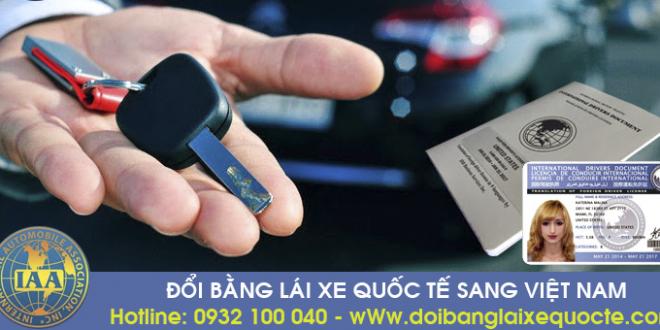 Địa chỉ chuyển đổi bằng lái xe quốc tế tại Vĩnh Long qua mạng - Hotline/ Zalo/ Viber: 0932 100 040