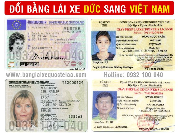 Hướng dẫn cấp đổi bằng lái xe Đức sang Việt Nam qua mạng cấp tốc, giá rẻ - Hotline/ Zalo/ Viber: 0932.100.040