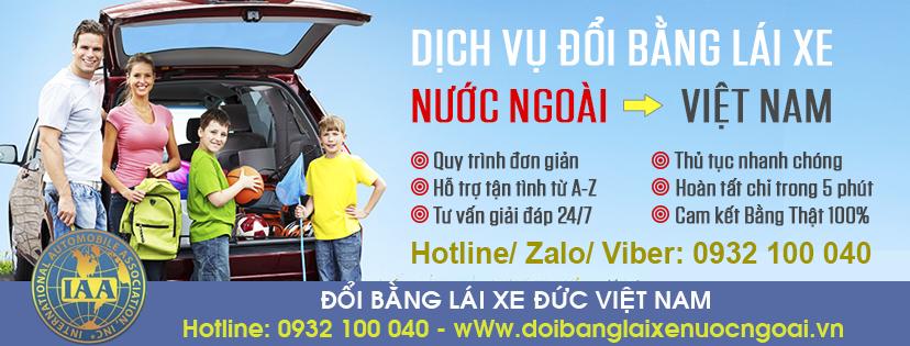 Địa chỉ đổi bằng lái xe Đức sang Việt Nam qua mạng cấp tốc - Hotline/ Zalo/ Viber: 0932.100.040