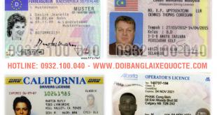 Danh sách các Nước được đổi sang bằng lái xe Việt Nam