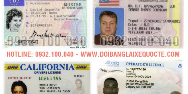 Một số nước được phép cấp đổi sang bằng lái xe Việt Nam - Hotline/ Zalo/ Viber: 0932.100.040