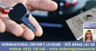 Hướng dẫn cấp đổi bằng lái xe Ô tô sang bằng quốc tế qua mạng - Liên hệ: Hotline/ Zalo/ Viber: 0932 100 040