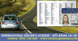 Hướng dẫn thủ tục cấp đổi giấy phép lái xe quốc tế tại TPHCM qua mạng - Hotline/ Zalo/ Viber: 0932 100 040