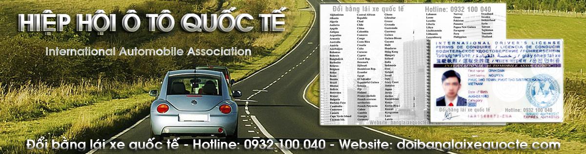 Đổi bằng lái xe quốc tế – Đổi giấy phép lái xe quốc tế online