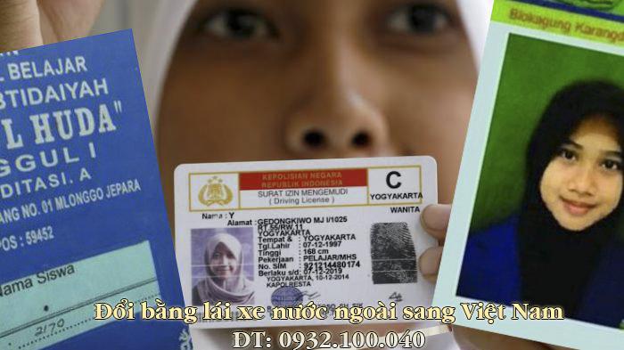 Hướng dẫn chuyển đổi bằng lái xe Indonesia sang Việt Nam - Hotline/ Zalo/ Viber: 0932.100.040