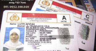 Đổi bằng lái xe Indonesia sang Việt Nam