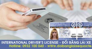 Đổi bằng lái xe quốc tế trực tuyến