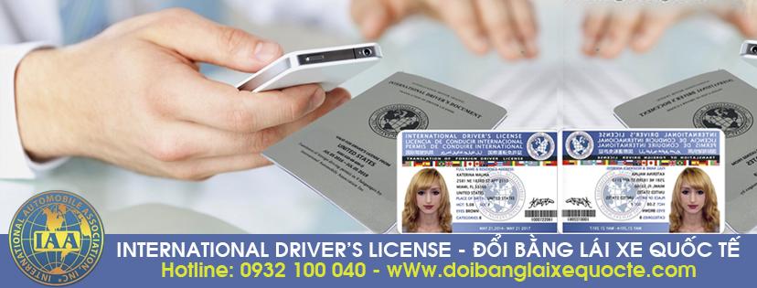 Hướng dẫn chuyển đổi bằng lái xe quốc tế trực tuyến, cấp tốc - Hotline/ Zalo/ Viber: 0932.100.040