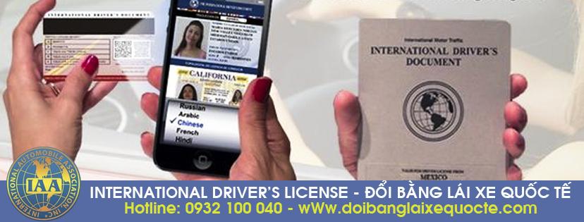 Địa chỉ cấp đổi bằng lái xe quốc tế trực tuyến qua mạng, cấp tốc - Hotline/ Zalo/ Viber: 0932.100.040