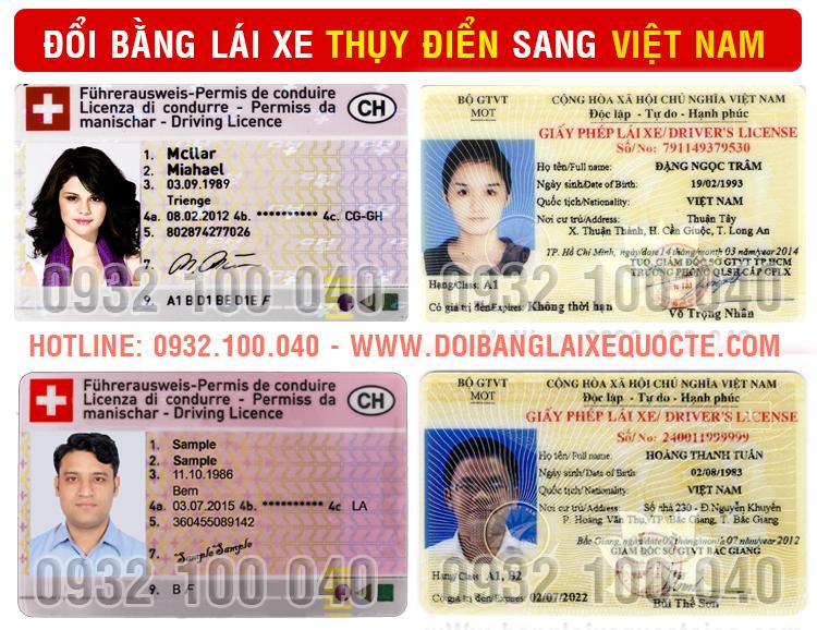 Địa chỉ chuyển đổi bằng lái xe Thụy Điển sang Việt Nam cấp tốc qua mạng - Hotline/ Zalo/ Viber: 0932.100.040