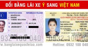 Đổi bằng lái xe Ý sang Việt Nam cấp tốc qua mạng - Hotline/ Zalo/ Viber: 0932.100.040