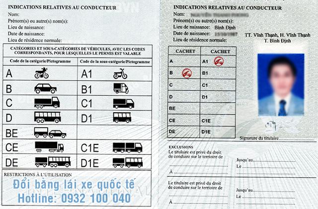 Giới thiệu mẫu bằng lái xe quốc tế do Việt Nam cấp - Liên hệ: Hotline/ Zalo/ Viber: 0932.100.040