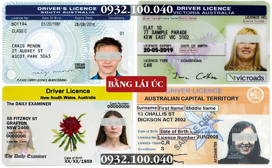 Mẫu bằng lái xe Úc - Chuyển đổi giấy phép lái xe nước ngoài sang Việt Nam - Hotline: 0932.100.040