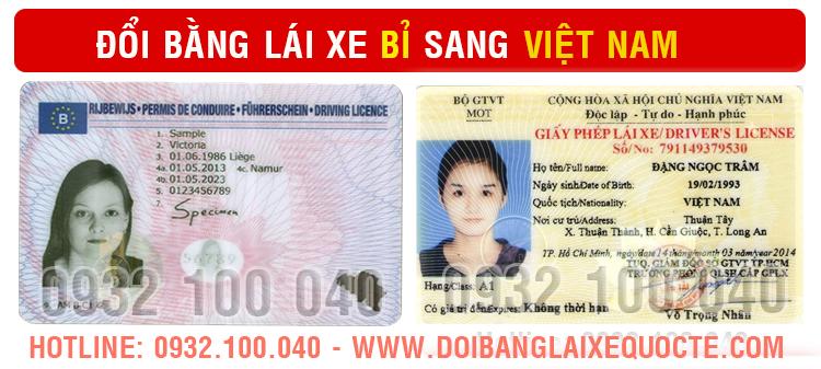 Hướng dẫn thủ tục chuyển đổi bằng lái xe Bỉ sang bằng Việt Nam qua mạng - Hotline/ Zalo/ Viber: 0932.100.040