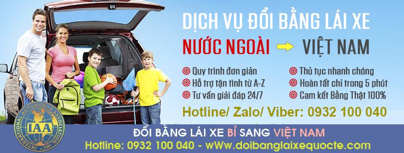 Nhận cấp đổi bằng lái xe Bỉ sang Việt Nam qua mạng - Hotline/ Zalo/ Viber: 0932.100.040