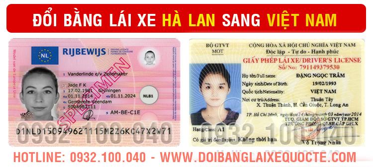 Cấp đổi bằng lái xe Hà Lan sang Việt Nam cấp tốc qua mạng - Liên hệ: Hotline/ Zalo/ Viber: 0932.100.040