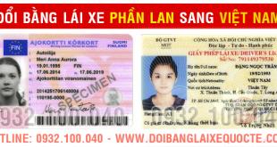 Cấp đổi bằng lái xe Phần Lan sang Việt Nam qua mạng - Hotline/ Zalo/ Viber: 0932 100 040