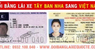 Hướng dẫn chuyển đổi bằng lái xe Tây Ban Nha sang bằng Việt Nam qua mạng - Hotline/ Zalo/ Viber: 0932.100.040