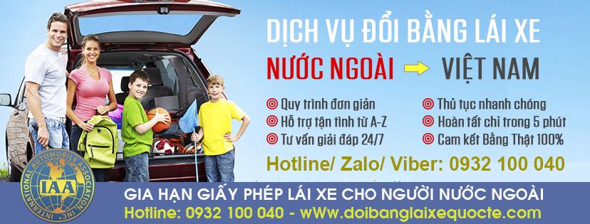 Hướng dẫn gia hạn giấy phép lái xe cho người nước ngoài - Hotline/ Zalo/ Viber: 0932.100.040