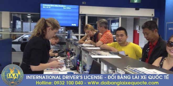 Đổi bằng lái xe quốc tế như thế nào?