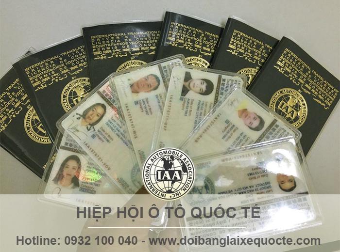 Cấp đổi giấy phép lái xe quốc tế
