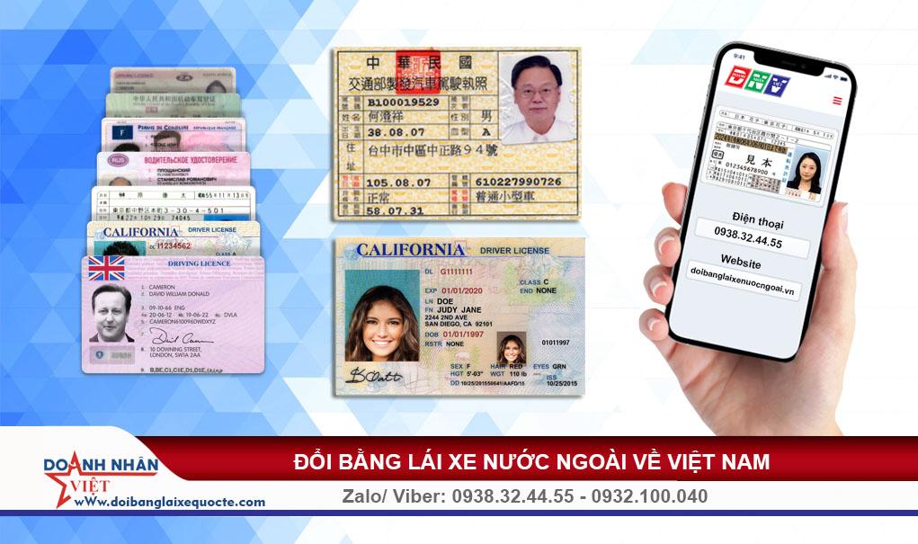 Bằng lái xe nước ngoài về Việt Nam